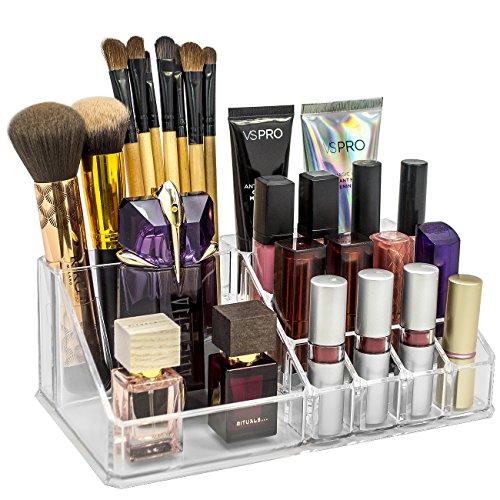 Sorbus Acrylic Cosmetics Makeup and Jewelry Storage Case Display Top