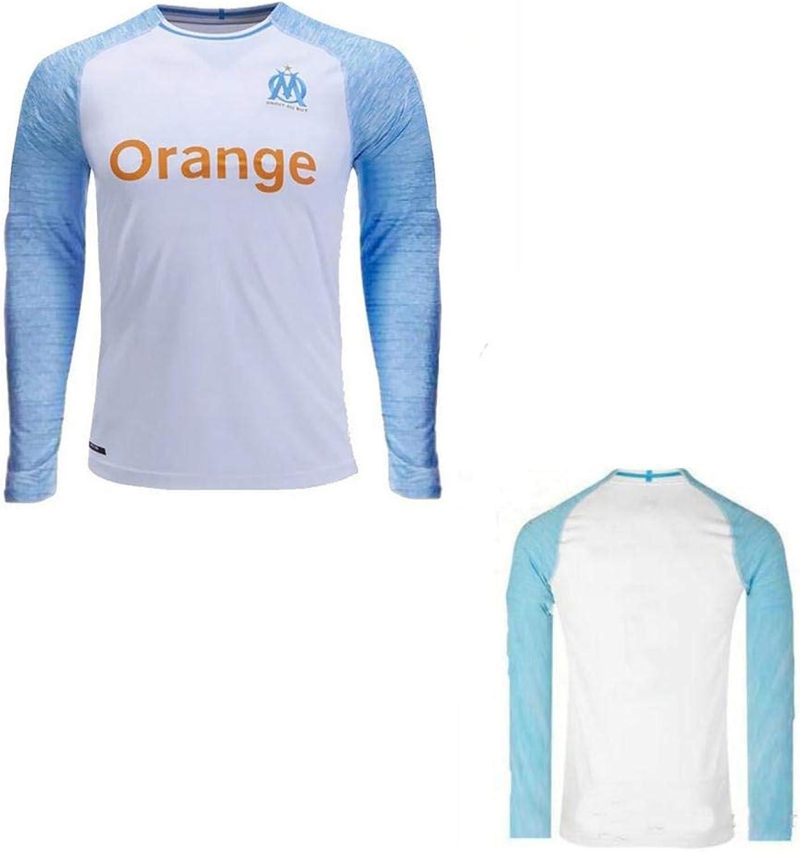 GoFall 2019 Soccer Jersey Men's Long Sleeve France Olympique Marseille Long Home Replica