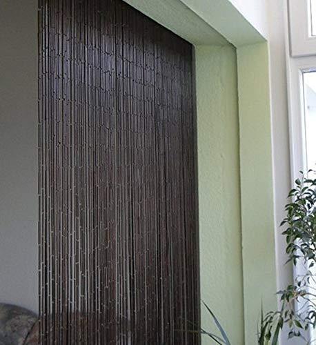 Bambusvorhang Türvorhang Dekovorhang Modell Saigon Classic 99 Stränge 90cm x 200cm mit Aufhängeleiste