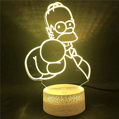 tian tian baby Luz de Noche 3D Lámpara de ilusión óptica Control Remoto Figura de luz de Noche LED 3D Regalo de cumpleaños único para niños para la habitación de los niños Escritorio con batería USB