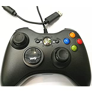 Bright Shining Wired USB Controller Gamepad for Microsoft XBOX360 (Black)