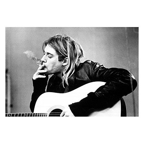 Fabulous Poster Affiche Kurt Cobain Noir Et Blanc