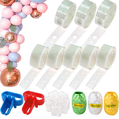 300 Dot Glue Point Stickers 48FT Balloon Tape Strip Suitable for Party Wedding Birthday Baby Shower and Any Special Occasion KIMCOME Balloon Decoration Strip Kit for Arch Garland