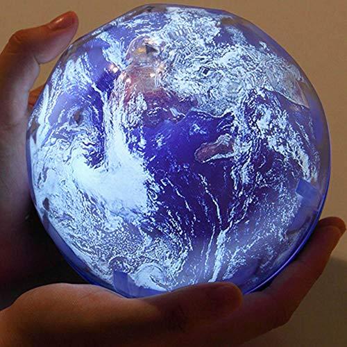 Projecteur De Veilleuse Romantique Étoilé Nuit Lumière Ciel Projecteur Étoile Lampe Étoile Maître Planète Magic Earth Universe Led Coloré Rotation Clignotant Enfants Cadeau-Terre Pas Rotation
