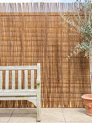Papillon 4.0m x 1.5m (13ft 1in x 4ft 11in) Willow Natural Garden Fence Screening Roll Privacy Border Wind & Sun Protection