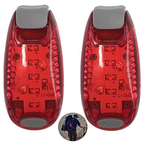 LED Sicherheitslicht Blinklicht für Kinder, Reflektoren für Kleidung Schulranzen Nachtläufer Bergsteiger Joggen Laufen Hunde - Clip Sicherheit Licht 2er