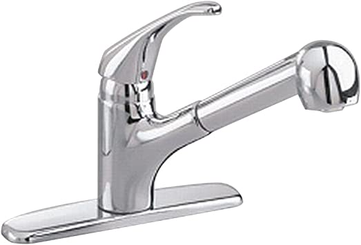 American Standard 4205104 002 2 2 Gpm Pull Out Kitchen Faucet 2 2 Gal Per Minute Polished Chrome Touch On Kitchen Sink Faucets Amazon Com