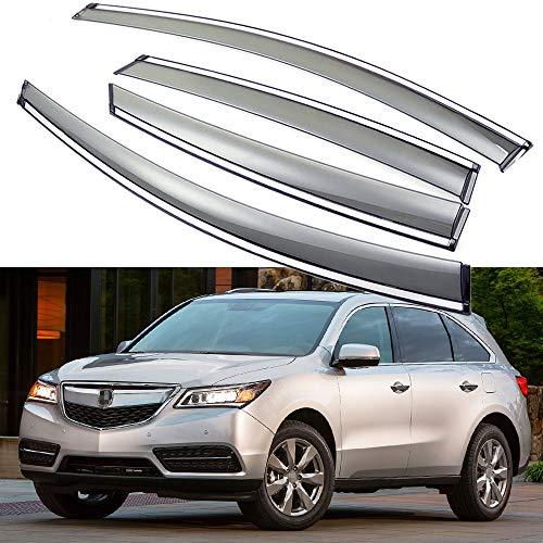 SPEEDLONG Car Window Visor Vent Shade Deflector Sun/Rain Guards Compatible with Acura MDX 2014-2020 15 16 17 18 19