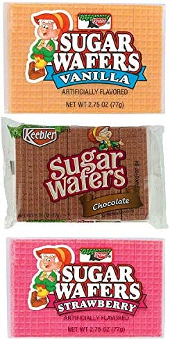 Keebler Sugar Wafers Variety Bundle 3 Flavors 4 of each Vanilla Chocolate and Strawberry Pack product image
