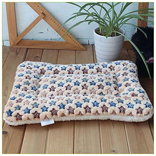 WHEEJE Cama de la Cama de Perro Cojín Lavable Cojín de la Manta Cat Gato Mantenga el colchón cálido Nido Antideslizante para el Cachorro Accesorios engrosados Manta de Mascotas Suave