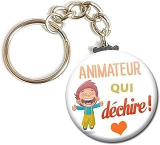 Porte Clés Chaînette 3,8 centimètre Animateur qui déchire Idée Cadeau Accessoire Anniversaire Noël Remerciement Fête
