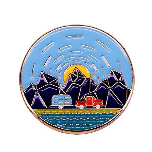 Pin Retro Caravan Abzeichen Emaille Pin Anstecknadeln Abzeichen