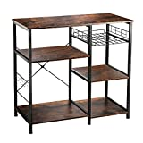 VANSPACE Industrial Kitchen Baker's Rack Utility Storage Shelf Microwave Stand 3-Tier + 3-...