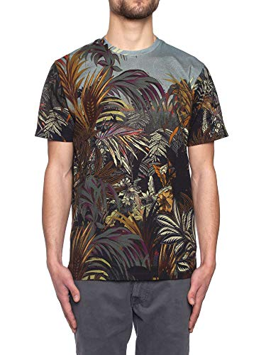 Etro Floral Printed Cotton T-Shirt, Hombre, Talla M.