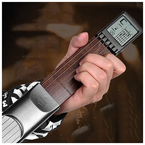 ATRNA Taschengitarre, Taschengitarrenakkordtrainer für die Folkgitarrenübung Gadget mit drehbarem Akkorddiagramm für Anfänger zum Üben der Fingersätze