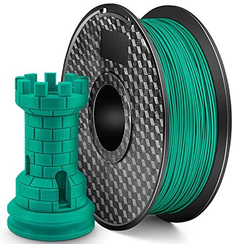 LONENESSL 3D PLA Printing Filament 1.75mm 1KG 3D Printer Filament Bundle, Dimensional Accuracy +/- 0.02 mm Printer Consumables Green