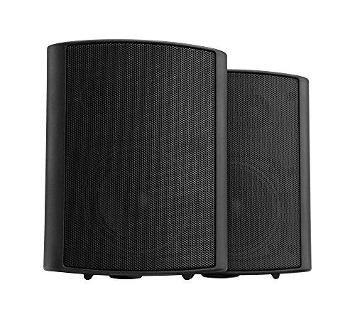 Pronomic USP-540 BK HiFi Wandlautsprecher Paar - 2-Wege Lautsprecher Boxen im Set - Ideal für Gastronomie und Terasse - inklusive Wandhalterung zur Befestigung - 160W Leistung - schwarz