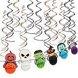 ZERHOK Banner de Halloween decoración 18pcs remolinos Colgantes Espiral Pancarta Decorativa con...