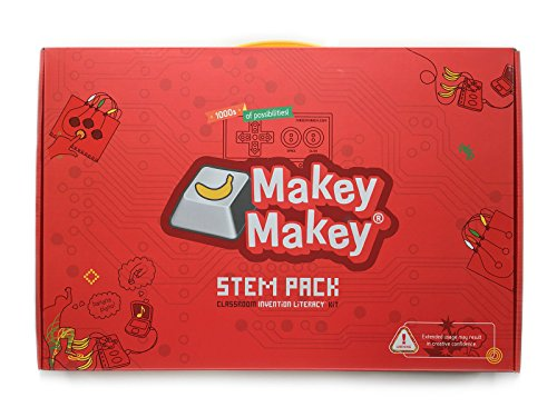 Makey Makey STEM Pack Classroom Invention Literacy Kit from JoyLabz - Hands-on Technology Learning Fun - Science Education - 1000s of Engineering and Computer Coding Activities - Ages 8 and Up