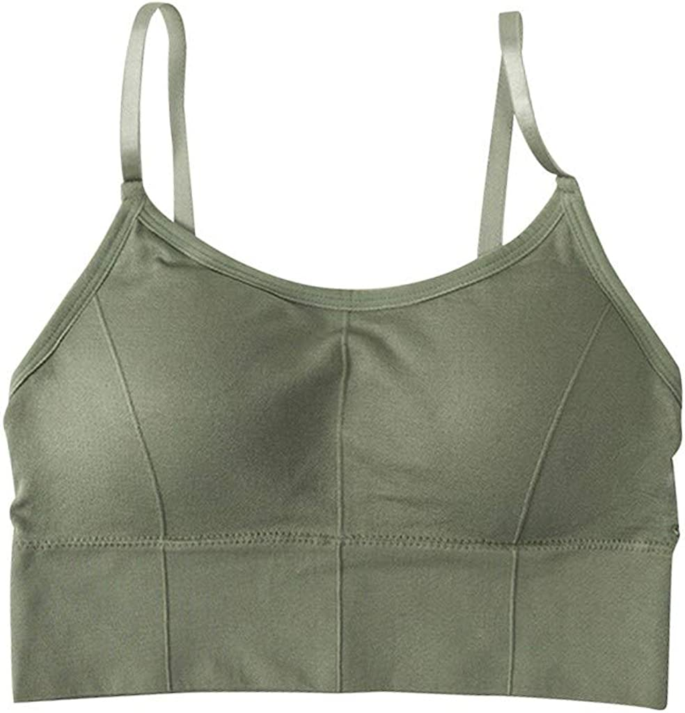 Gergeos Sexy Lace Wire Free Bra Push Up Underwear Cotton Sports Crop Top