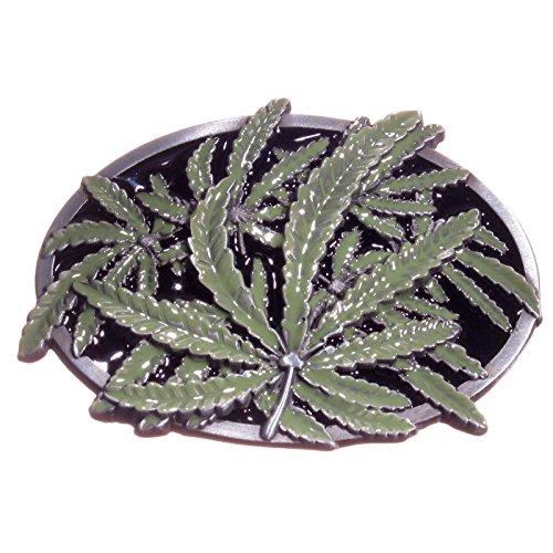 Buckle als Hanfpflanze, Hanfblatt, Marihuana, Cannabis - Gürtelschnalle
