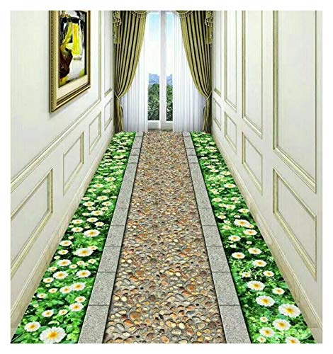 ditan XIAWU 3D Schneidbarer Eingangsteppich Treppe Eingang rutschfest Wohnzimmer (Color : A, Size : 90x160cm)