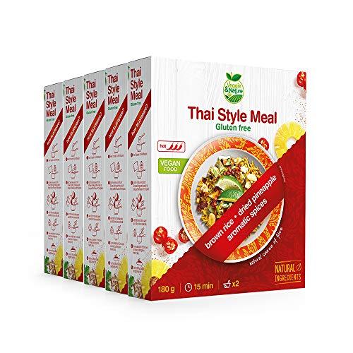 Veggie&Nature, Preparato vegan per piatto in stile thailandese, confezione da 5 x 180 g