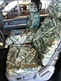 Durafit Seat Covers Made to fit Ford F250-F350-F450-F550 Front 40/20/40 Split Seat Custom Seat Covers, Opening Console Lost at Camo Endura