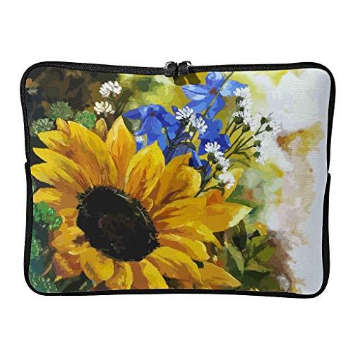 Sunflower Laptop Case Bag Slim Lightweight Multi-Functional Stationery 10-17 Zoll for Teen White 12 Zoll