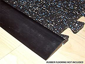 Ironcompany RB Rubber Black Beveled Rubber Flooring Edge Reducer - 12' Transition Strip for use with 3/8