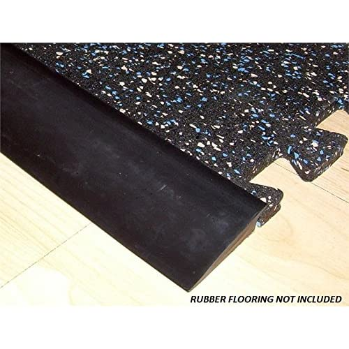 RB Rubber Black Beveled Rubber Flooring Edge Reducer - 12 Transition Strip for use with