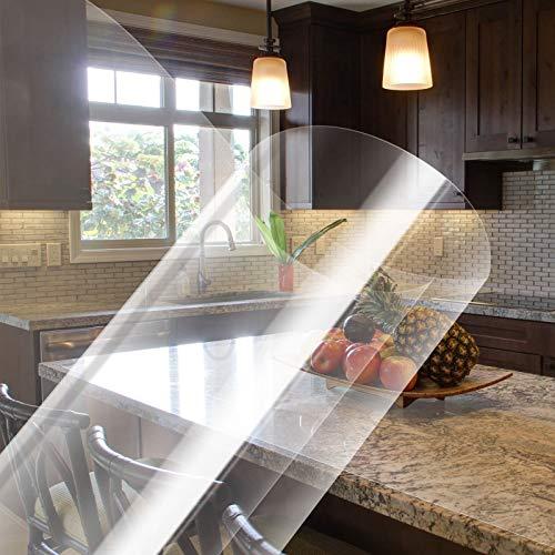 KINLO Selbstklebende Klebefolie transparent Möbel 60*500cm Möbelfolie Spritzschutz Buchschutz Folie Wandschutzfolie Wasserdicht Aufkleber Hochtemperatur-Anti-Öl-Fliesenaufkleber Fliesen Tischplatten