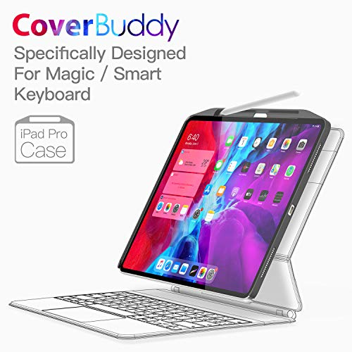 SwitchEasy [Upgraded] CoverBuddy Case for iPad Pro 11 inch 2020 (2nd Generation) & 2018, Compatible with Magic/Smart Keyboard, with Pencil Holder [Support iPad Pencil Charging]