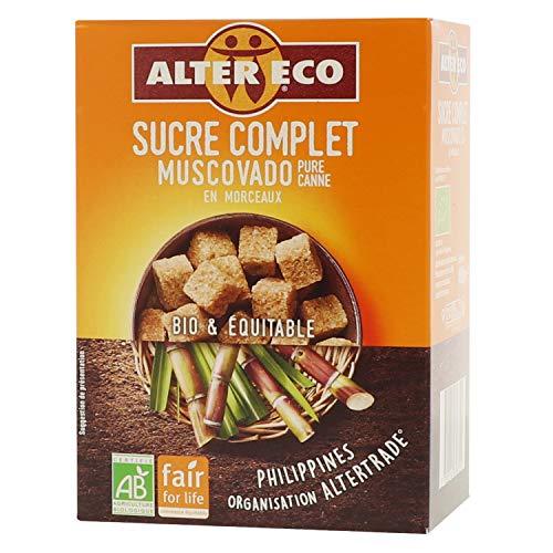 Alter Eco Sucre Complet Muscovado Pure Canne en Morceaux Bio & Équitable - 400 g