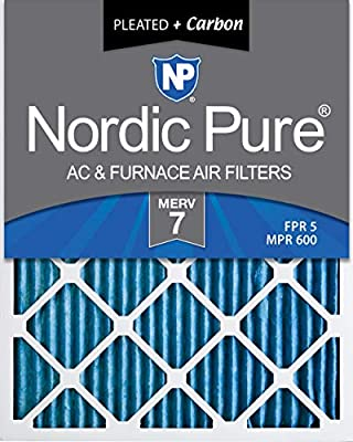 Nordic Pure 16x24x1 MERV 10 Pleated AC Furnace Air Filter