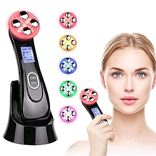 Ultrasuoni Terapia LED Radiofrequenza Viso e Corpo Massaggiatore Viso Antirughe, Ultrasuoni Viso Antirughe,Anti-età per la Pelle Dell'acne per il Ringiovanimento Della Pelle Cura, Ricarica USB