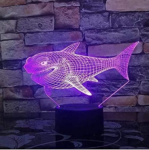 FYJ LED-Illusion Licht Lächeln Hai-LED-LED-Bunte RGB-Schlafzimmer-Dekor-Lampe für Spielzeuglampe Drop Ship Amazon Geburtstag und Feiertage für Kinder