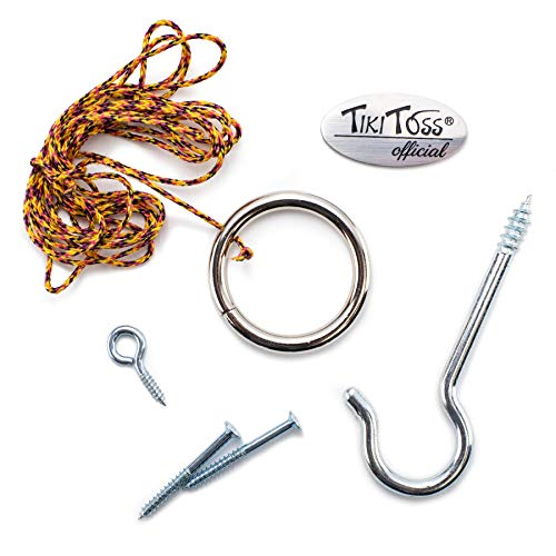Tiki Toss Original Hook and Ring Game Essentials- Includes Hook, Ring, Mounting Screws, and Thread