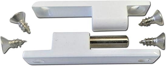 Scharnier hordeur als reserveonderdeel of accessoire voor insectenwerende deur of vliegendeur Metall 3x wit