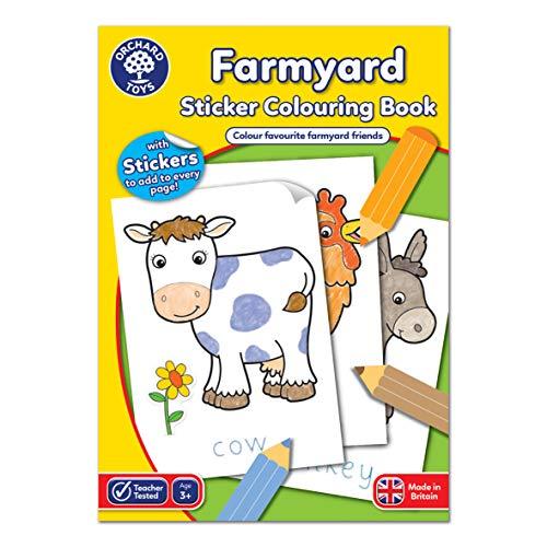 Orchard Toys Farmyard - Libro de Colorear Educativo para Colorear y Escribir Animales de Granja - 3 años +