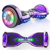 """MICROGO Hoverboard Kinder 6,5"""" Elektroroller mit Bluetooth-Lautsprechern LED-Leuchten, Geschenk..."""