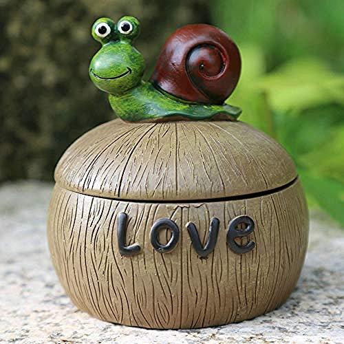 LJXLXY Decorations Art Craft Resin ornamenten schattige dier asbak locker met deksel tuin vaas sieraden doos sigaar clip