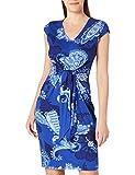 Desigual Vest_SIBILA Vestido Casual, Azul, M para Mujer
