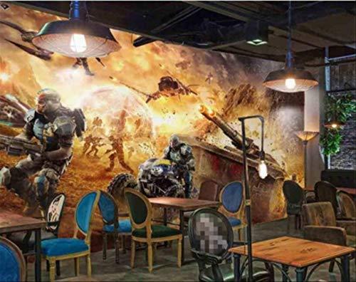 Custom 2017 New Star Wars Tank War Internet Cafés Dédiés Fond Papier Peint Papel De Parede Wallpaper Mural Largeur 250cm - Hauteur175cm un