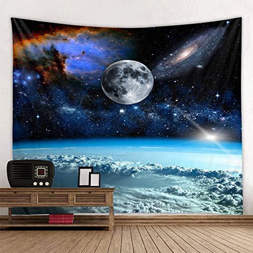 WERT Tapiz del Espacio Exterior Impreso en 3D Sala de Estar Dormitorio Playa decoración del hogar Tapiz de Tela de Fondo A2 150x200cm