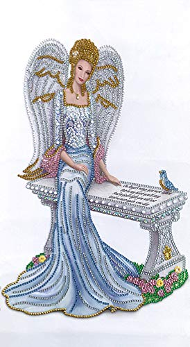 Diamond Painting Kits for Adults Special Shape Diamond Crystal Rhinestone Lady Angel 5D DIY Partial Drill Embroidery Cross Stitch Diamond Art for Wall Decor Gifts(12' x 20')
