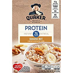 Quaker Select Starts Protein Instant Oatmeal, Banana Nut, Breakfast Cereal, 6 Packets