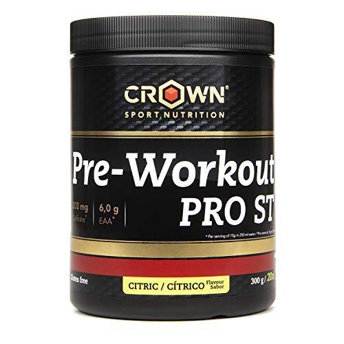 Crown Sport Nutrition Pre Entreno - Preworkout con Óxido Nítrico Taurina Tirosina Betaina Acetil L-Carnitina Cafeína Yerba Mate pre-entreno pre-workout lcarnitina