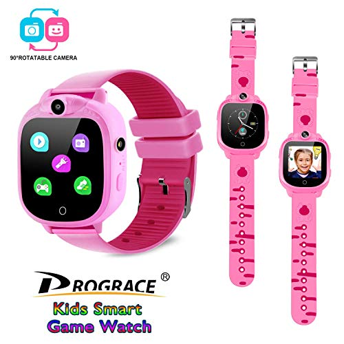 PROGRACE Kids Smart Watch with 90°Rotatable Camera Smartwatch Touch Screen Kids...