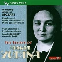 Yudina Legacy Vol. 11 - Mozart Rondo K 511, Pcs 20 And 23